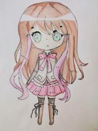 Как нарисовать и раскрасить девочку в стиле чиби поэтапно.