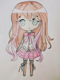 Фото  девочку в стиле чиби .