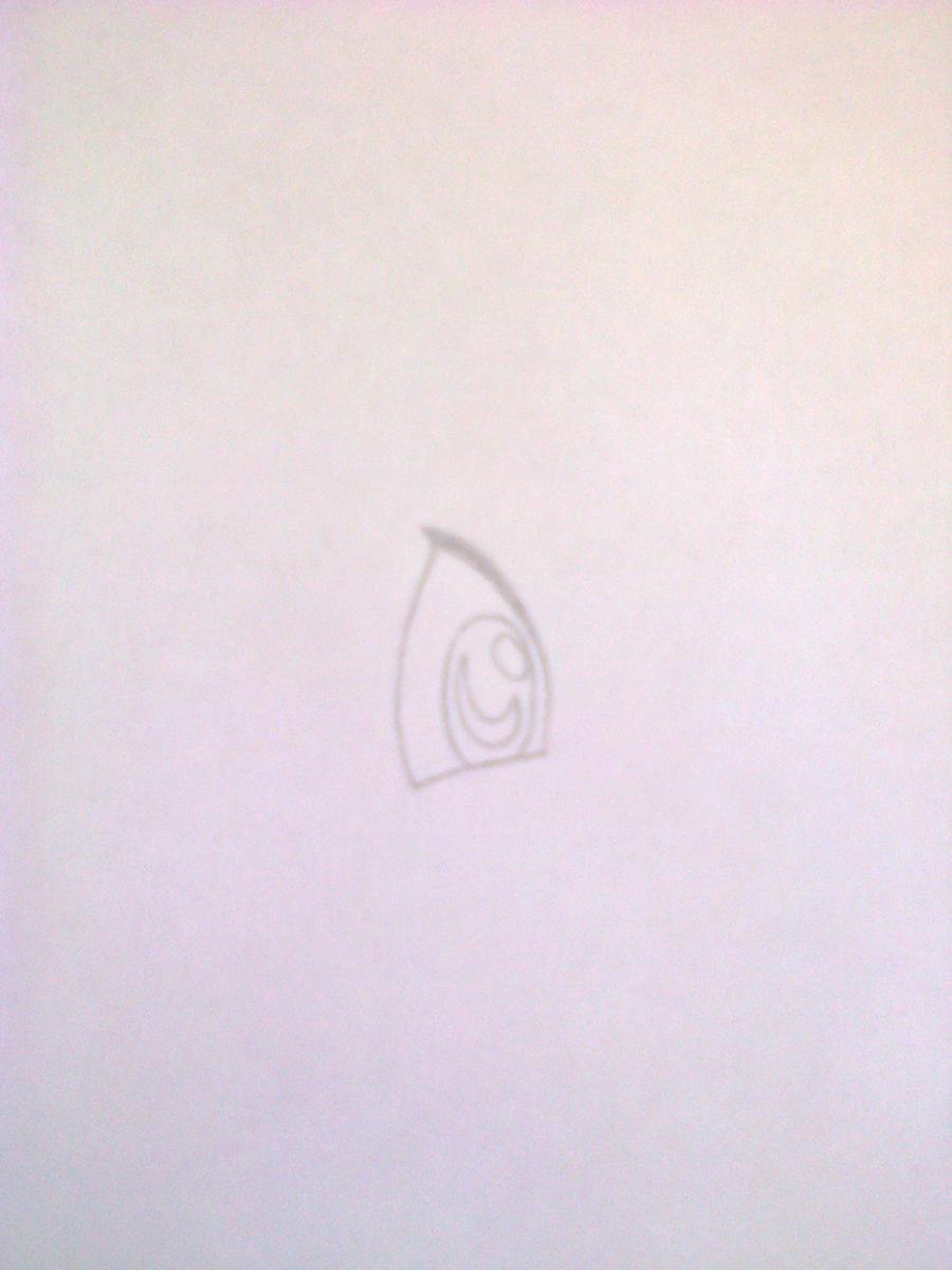 Рисуем лисёнка в стиле чиби цветными карандашами - шаг 1