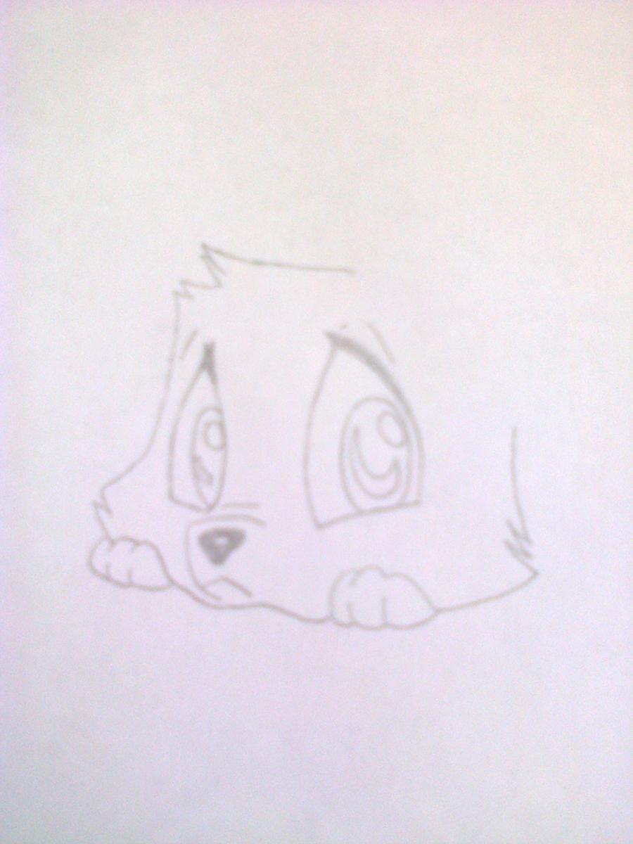 Рисуем лисёнка в стиле чиби цветными карандашами - шаг 3