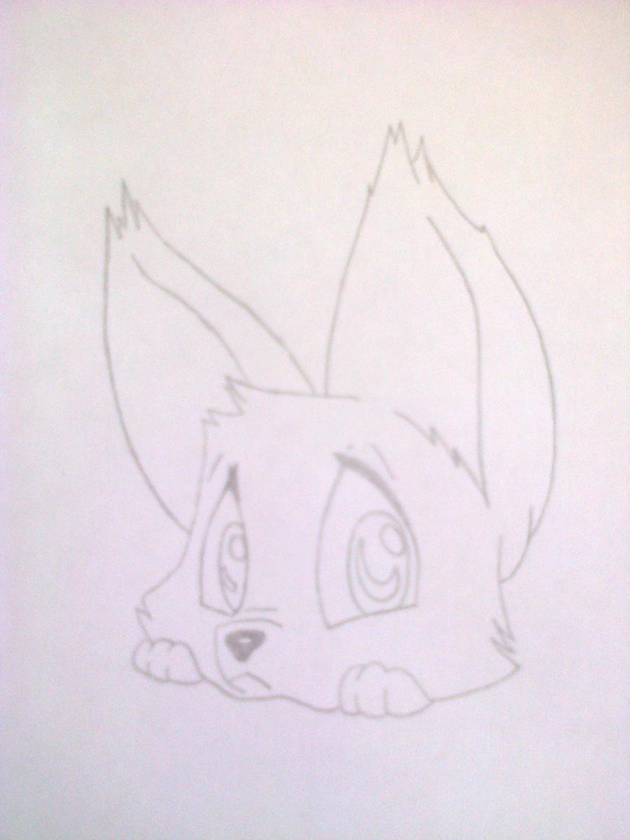 Рисуем лисёнка в стиле чиби цветными карандашами - шаг 4