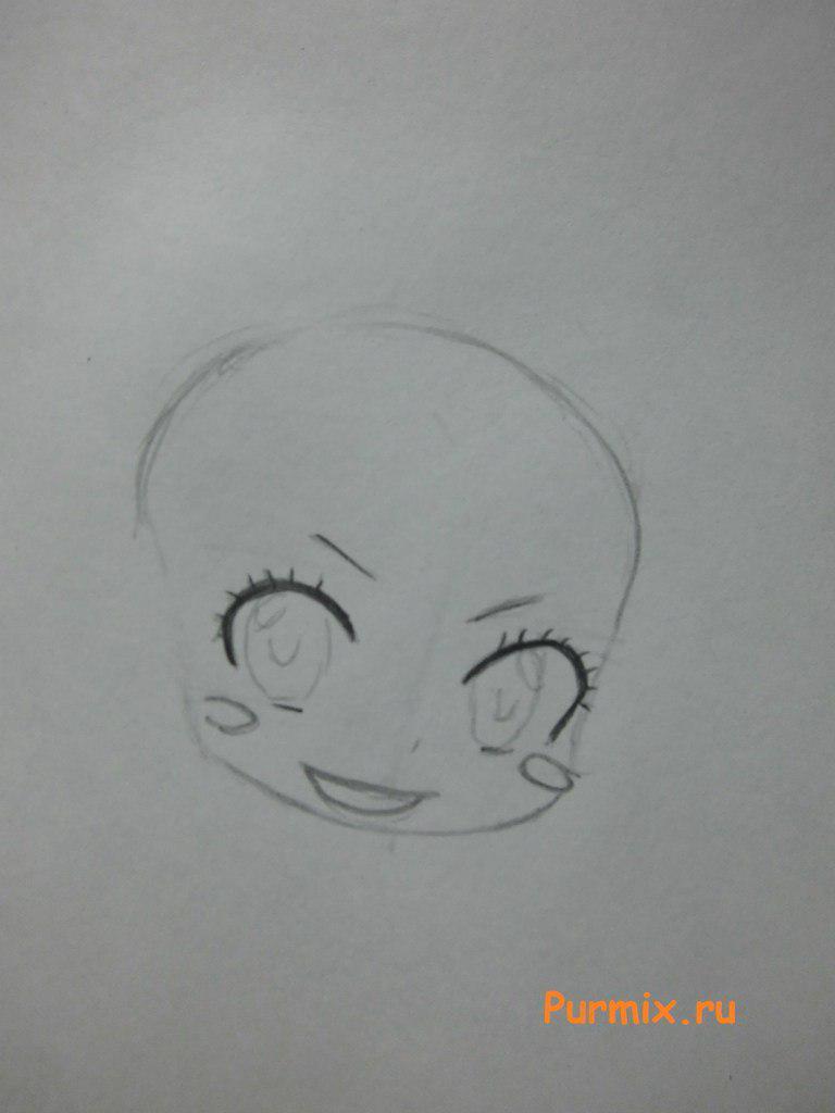 Как нарисовать Люси Сердоболию в стиле чиби из Легенда о хвосте феи