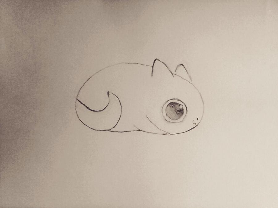 Рисуем маленького чиби  дракончика - шаг 3