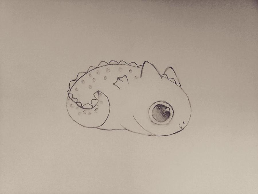 Рисуем маленького чиби  дракончика - шаг 5