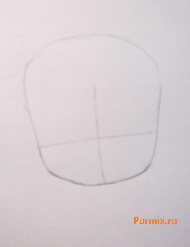 Рисуем Мику Хатсуне в стиле чиби простым - шаг 1