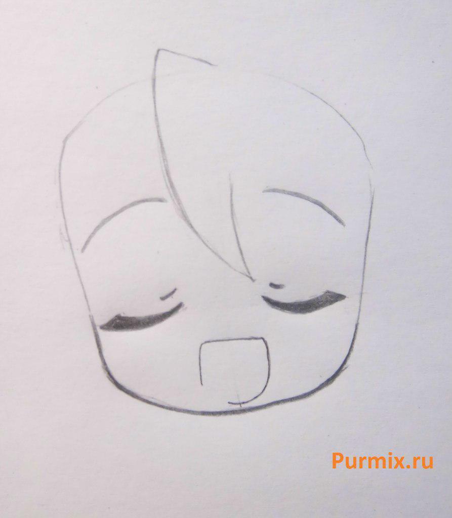 Рисуем Мику Хатсуне в стиле чиби простым - шаг 3