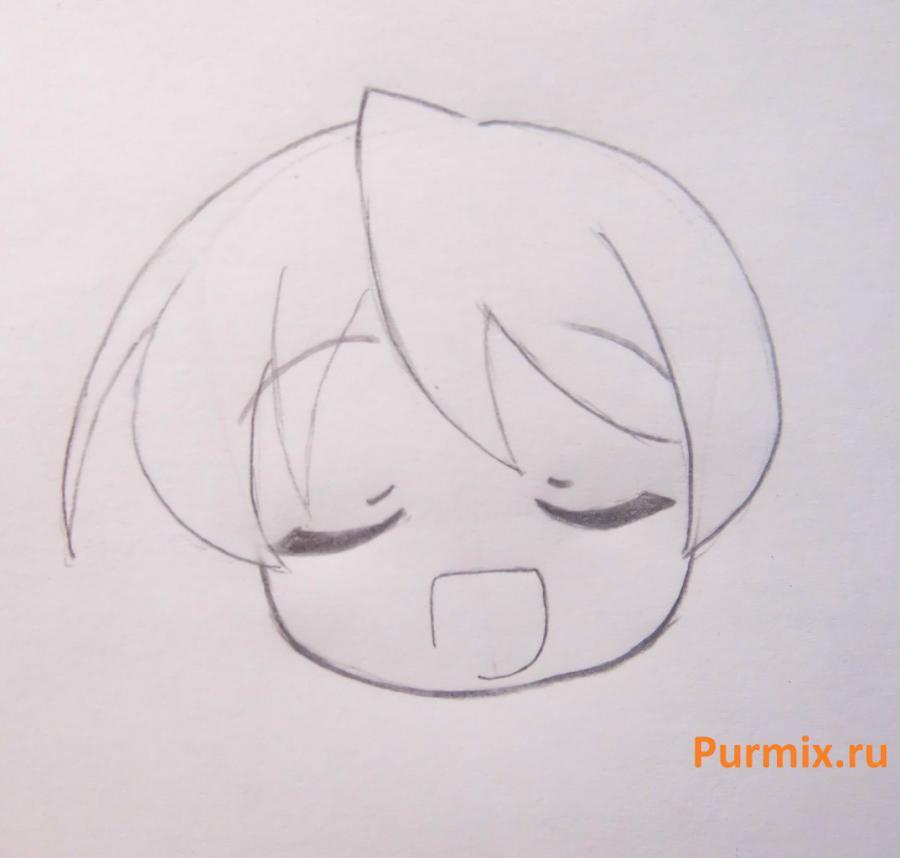 Рисуем Мику Хатсуне в стиле чиби простым - шаг 7