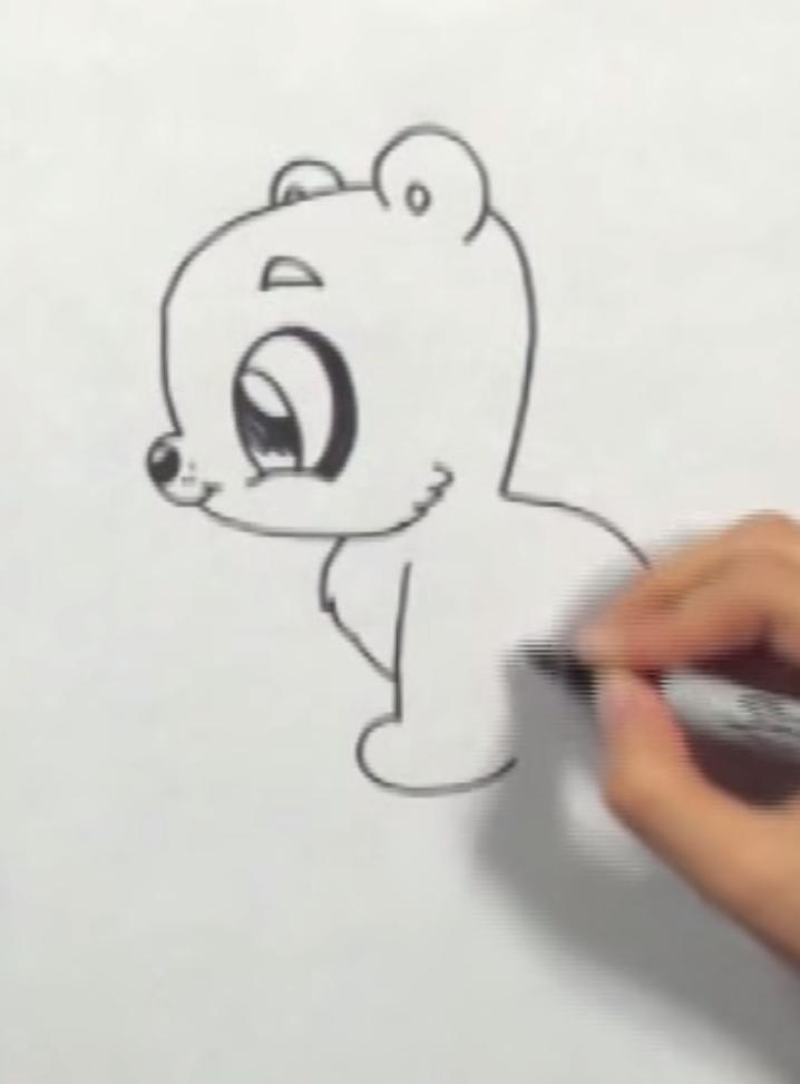 Рисуем мишку в стиле чиби простым