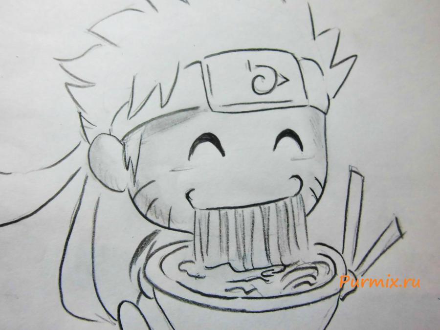 Рисуем Наруто в стиле чиби простым