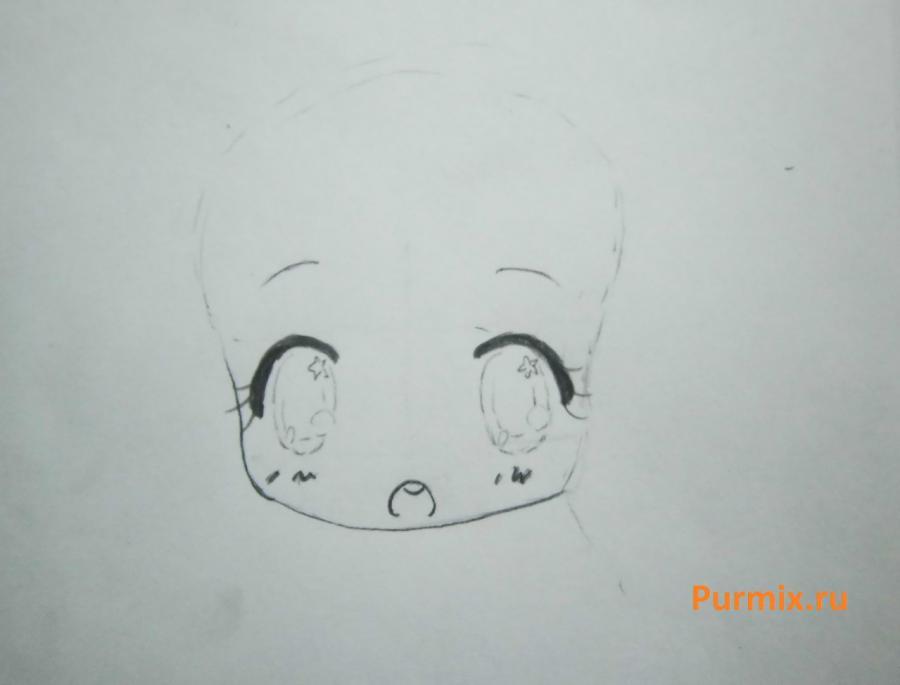 Рисуем неко в стиле чиби простым - шаг 2