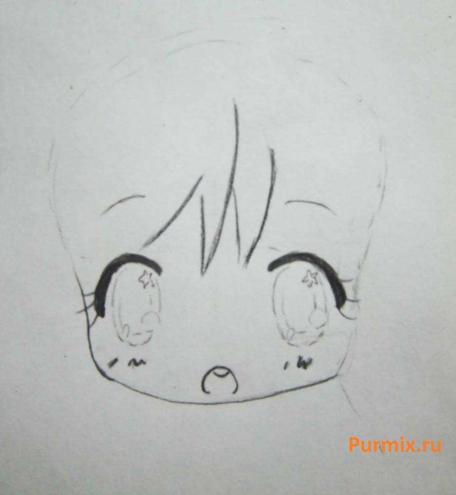 Рисуем неко в стиле чиби простым - шаг 3