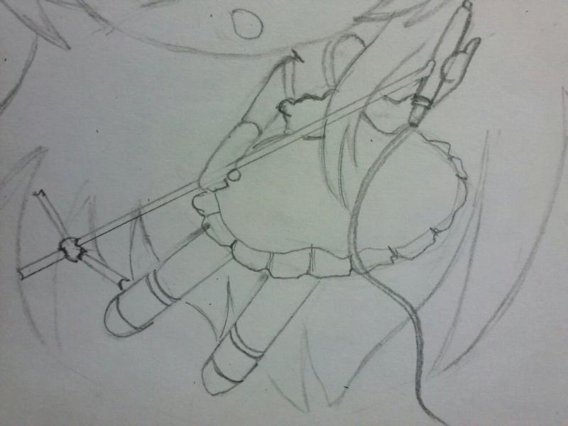 Как нарисовать поющую девушку чиби карандашом поэтапно
