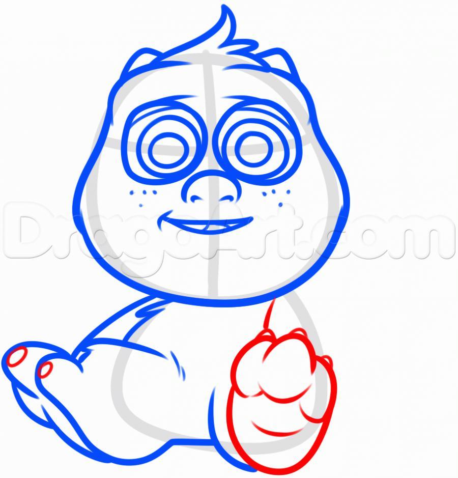 Как нарисовать Салли в стиле чиби карандашом поэтапно