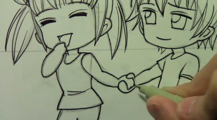 Рисуем чиби пару карандашами - фото 11