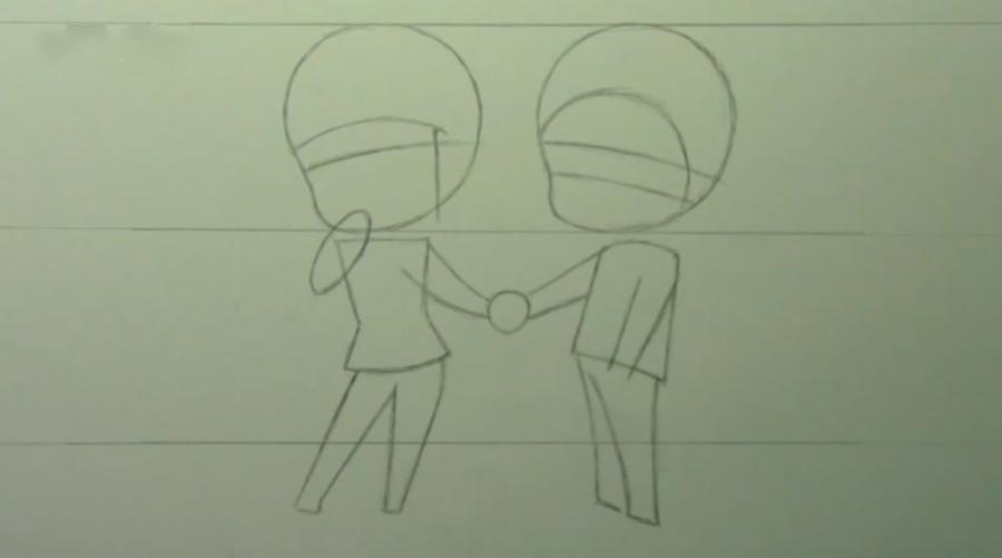 Рисуем чиби пару карандашами - фото 4