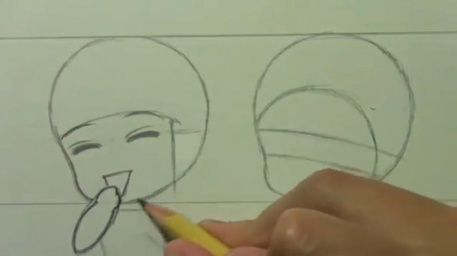 Рисуем чиби пару карандашами - фото 5