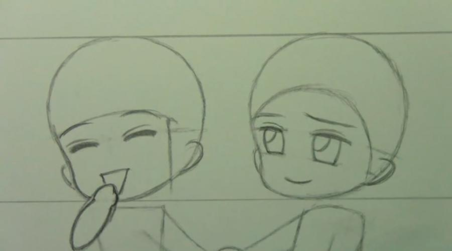 Рисуем чиби пару карандашами - фото 6