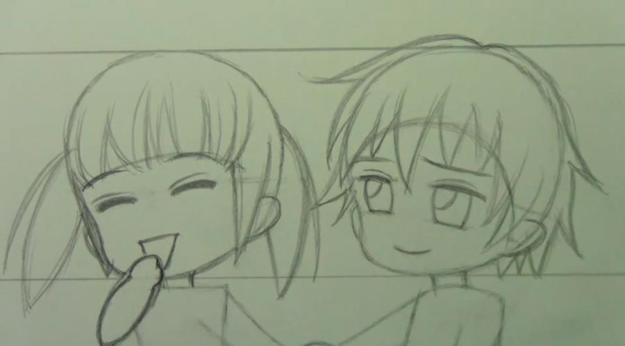 Рисуем чиби пару карандашами - фото 7