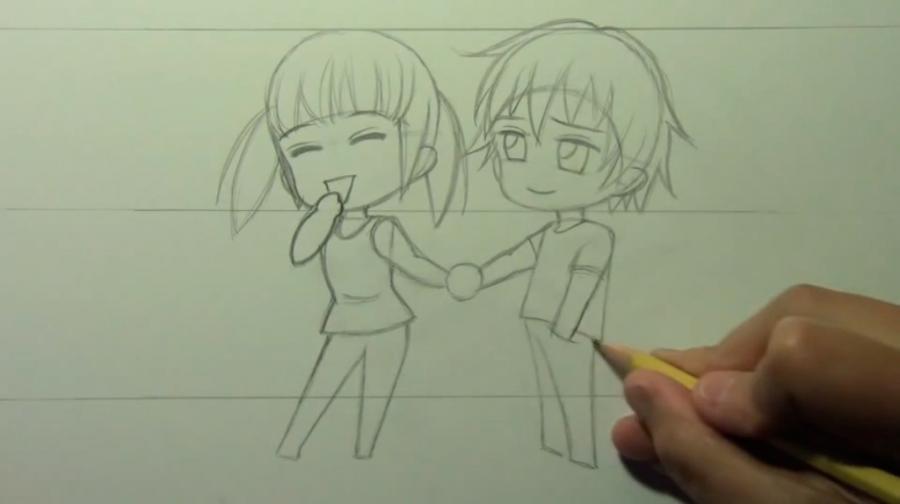 Рисуем чиби пару карандашами - фото 8