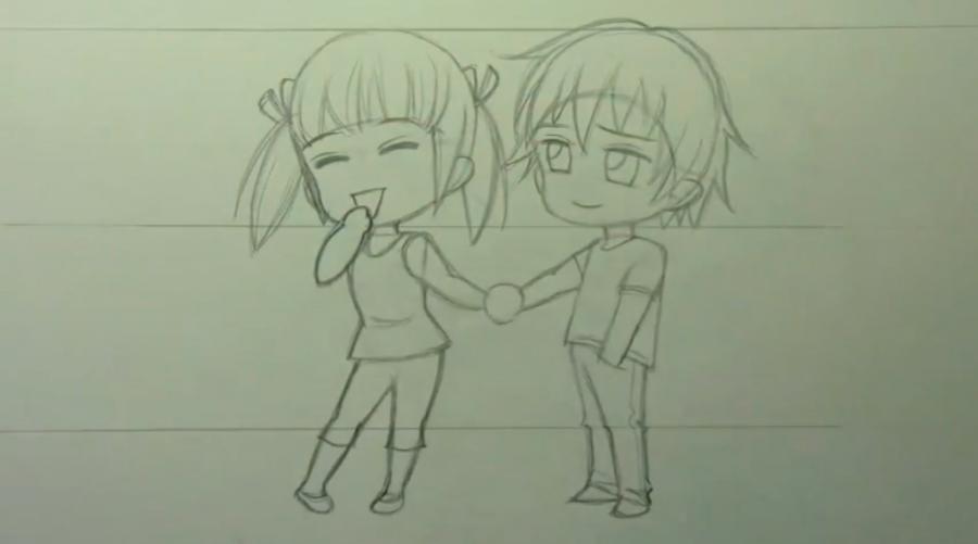 Рисуем чиби пару карандашами - фото 9