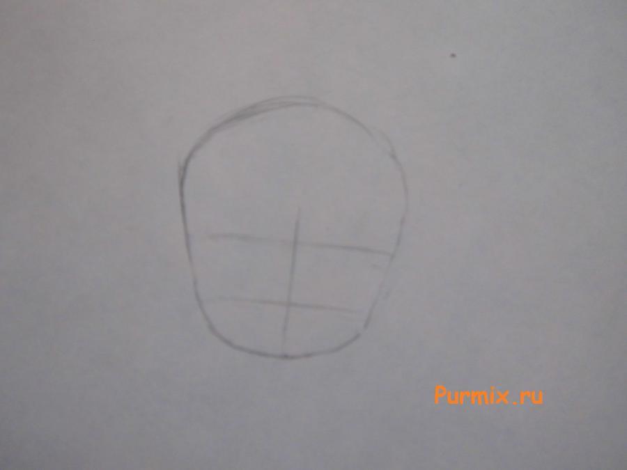 Рисуем Сейлор Ви в стиле чиби простым
