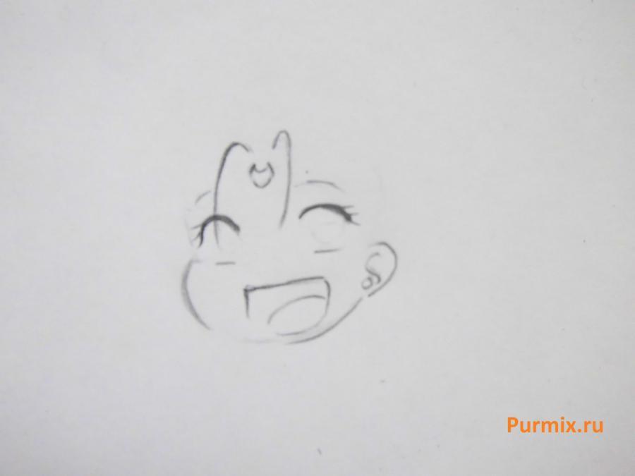 Рисуем Серенити в стиле чиби из аниме Сейлор Мун