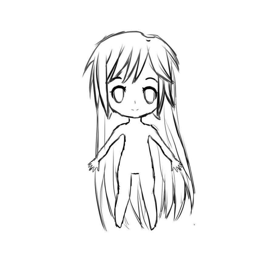 Как нарисовать тело школьницы в стиле чиби - шаг 10
