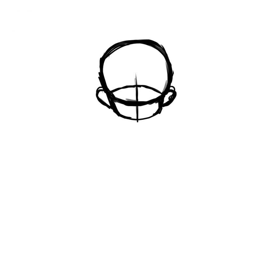 Как нарисовать тело школьницы в стиле чиби - шаг 3
