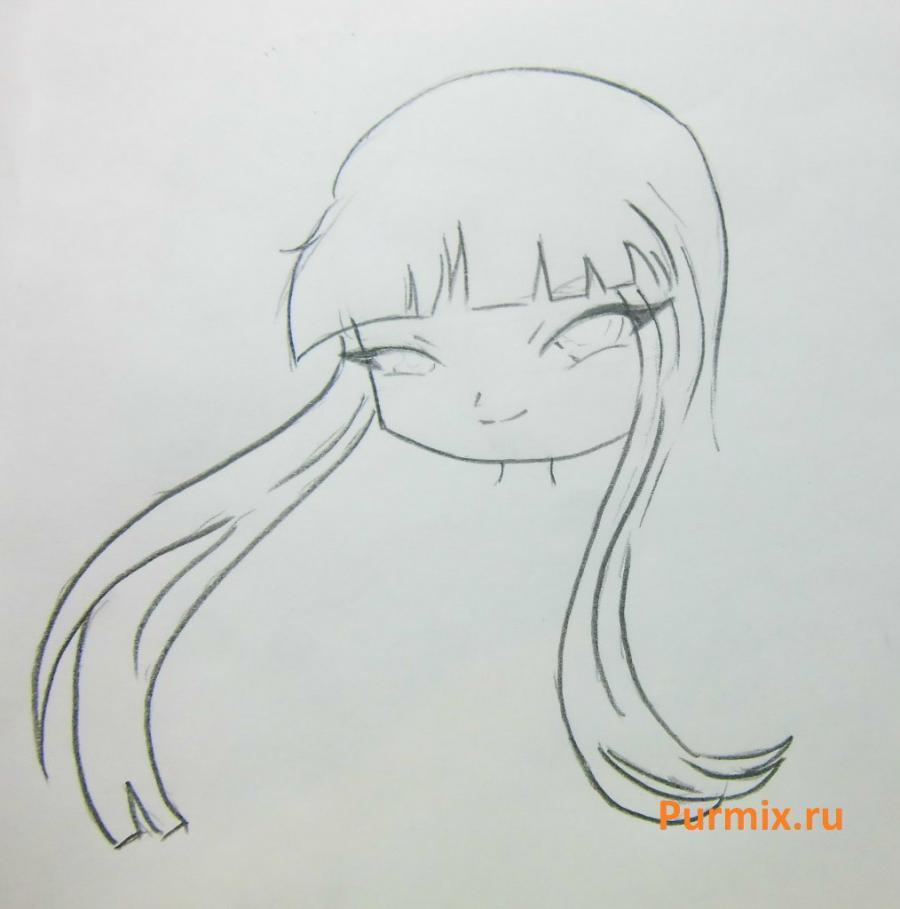 Как научиться рисовать красивого чиби ангела - шаг 3