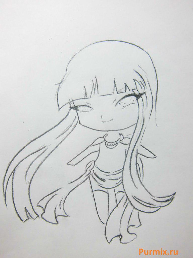Как научиться рисовать красивого чиби ангела - шаг 4