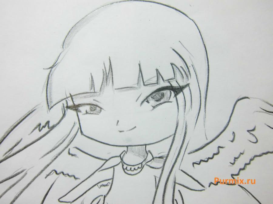 Как научиться рисовать красивого чиби ангела - шаг 6