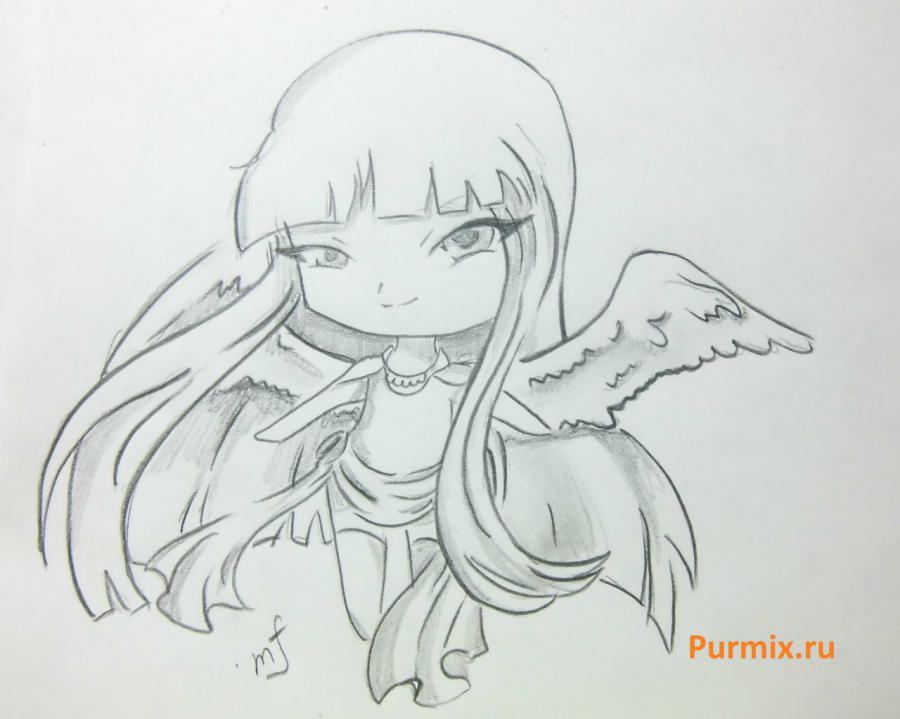 Как научиться рисовать чиби ангела простым карандашом