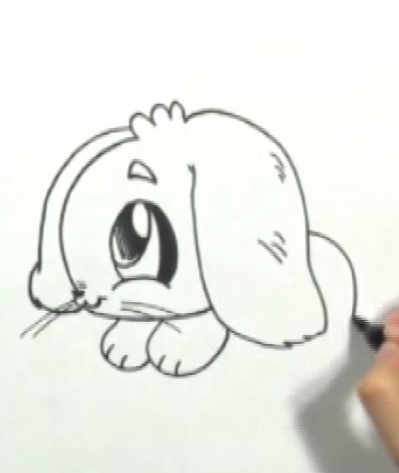 Как научиться рисовать кролика в стиле чиби простым - фото 3