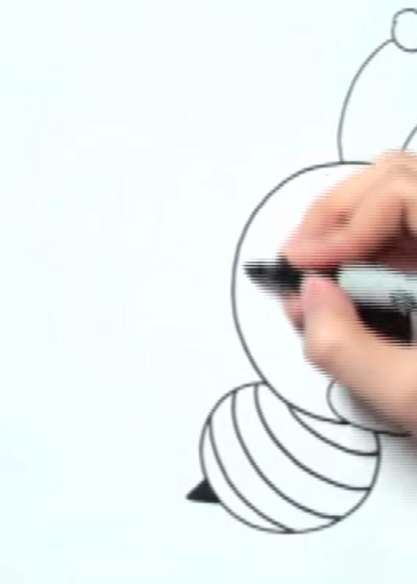 Рисуем пчелу в стиле чиби - шаг 3