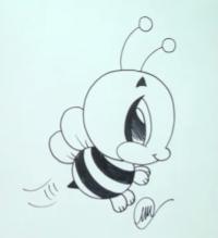 Фото пчелу в стиле чиби