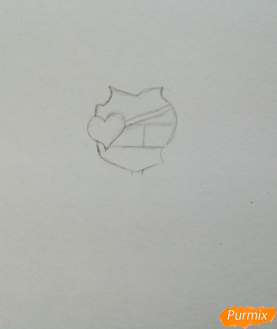 Рисуем чиби демона цветными карандашами - шаг 1