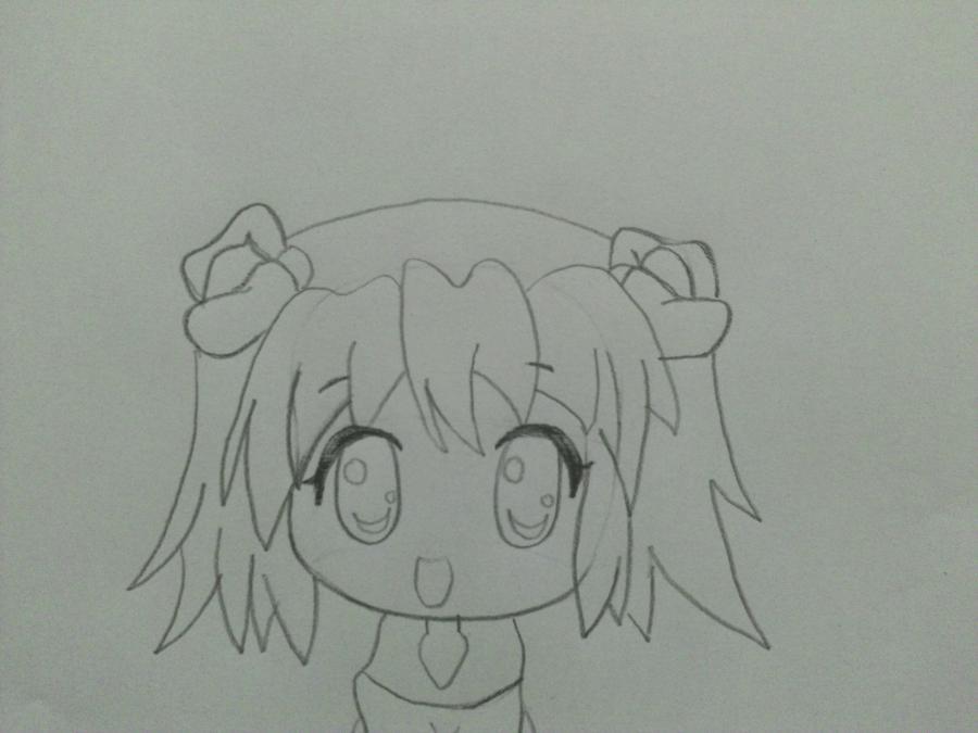 Учимся поэтапно рисовать чиби девочку карандашом