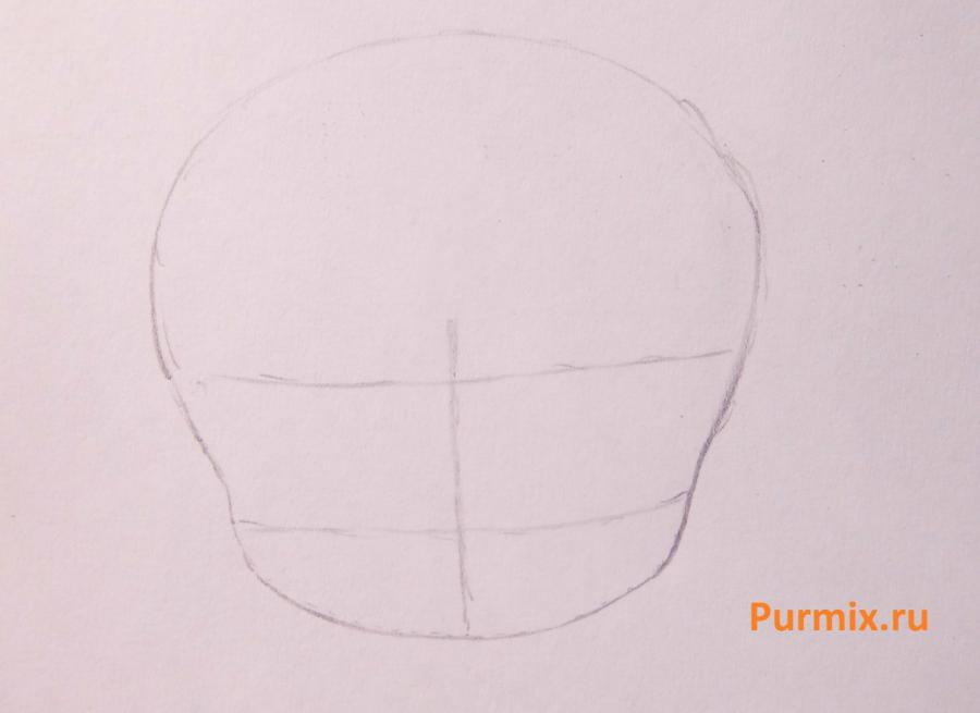Учимся рисовать чиби Эльзу с маленьким олафом - фото 1