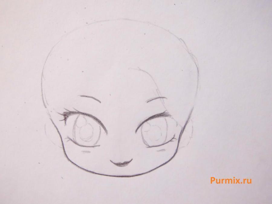 Учимся рисовать чиби Эльзу с маленьким олафом - фото 2