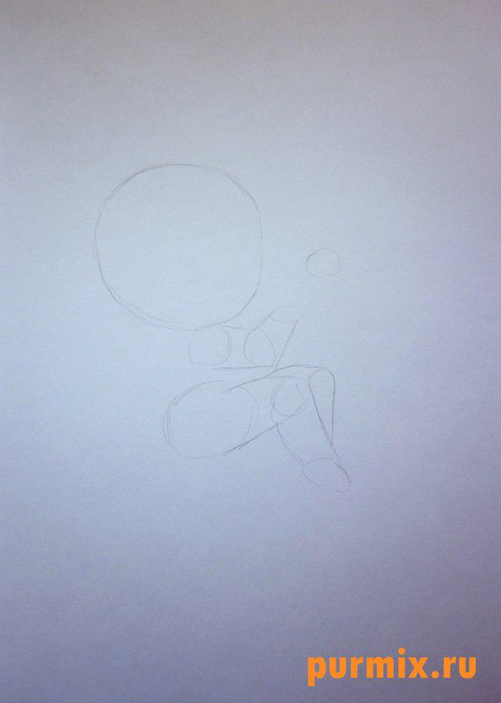 Рисуем Купидона ко дню Св. Валентина цветными карандашами - шаг 1