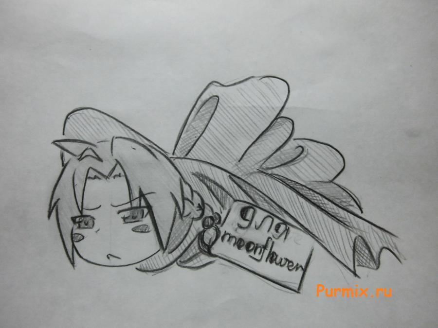 Рисуем Эдварда Элрика в подарочной упаковке на день Св. Валентина