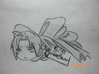 Как нарисовать Эдварда Элрика в подарочной упаковке на день Св. Валентина