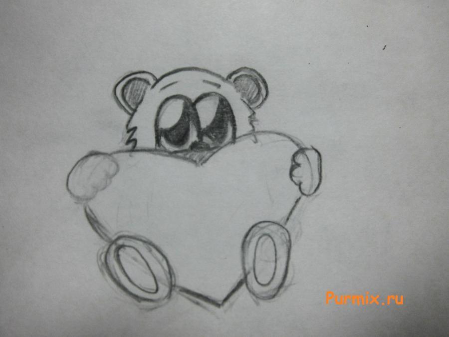 Рисуем милого мишку на день Св. Валентин - шаг 5