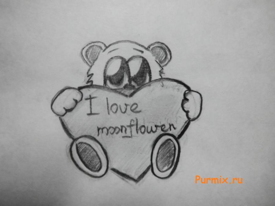 Рисуем милого мишку на день Св. Валентин - шаг 6