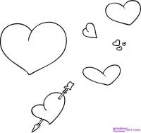 сердца карандашом