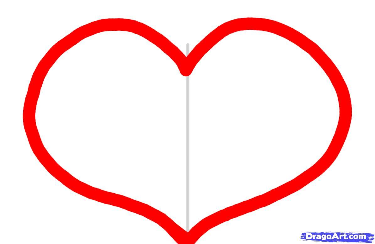 Рисунки как делать сердце