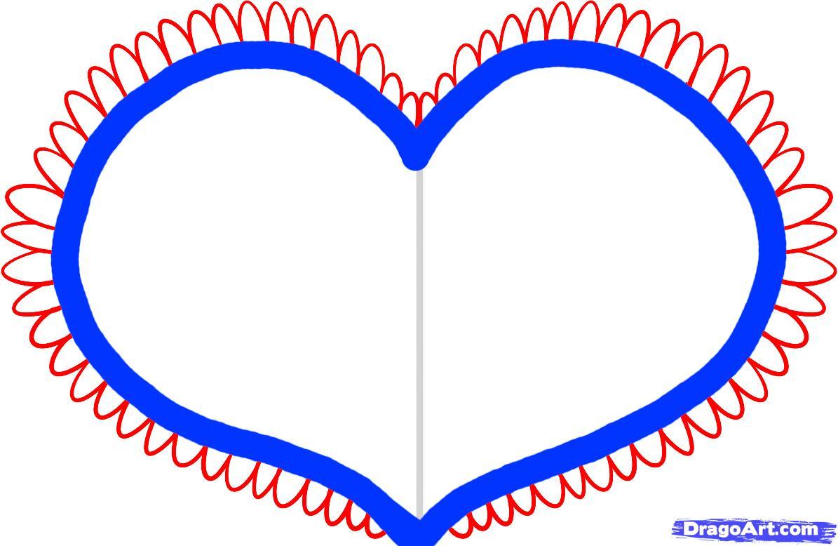 Рисуем валентинку - шаг 3