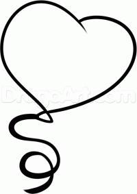 Как нарисовать воздушный шар ко дню святого валентина