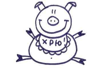 Рисуем свинку с ложной и вилкой ребенку - фото 11
