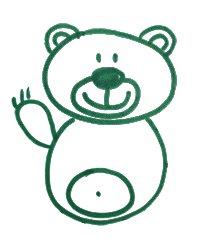 Как легко и просто нарисовать мишку ребенку - шаг 8
